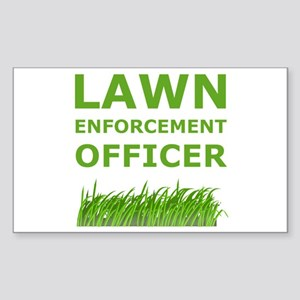 Lawn Enforcement Officer Sticker (Rectangle)